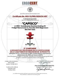 ErgoCert - Certificato Capisco 2013